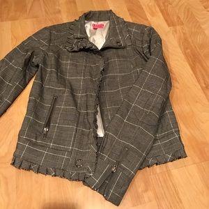Black and white plaid jacket